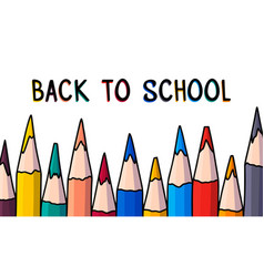 doodle pencil banner back to school hand drawn vector image