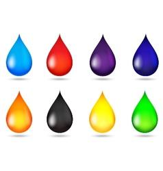 Drop liquid collection set vector