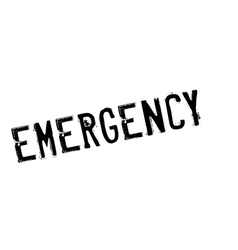Emergency rubber stamp vector