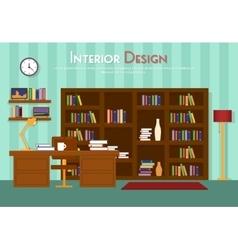 Flat room lounge vector