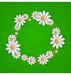 Floral background with daisy vector image