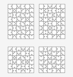 Four different white puzzles vector