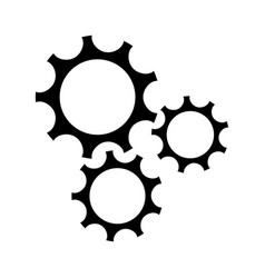 Gear teamwork wheel mechanism power silhouette vector