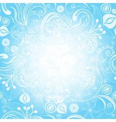 gentle blue easter floral frame vector image