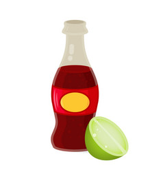 glass bottle frizzy drink vector image