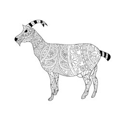 Goat Coloring for adults vector image