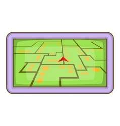 GPS navigation icon cartoon style vector image