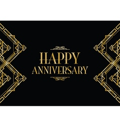Happy anniversary gatsby vector