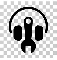 headphones tuning wrench icon vector image