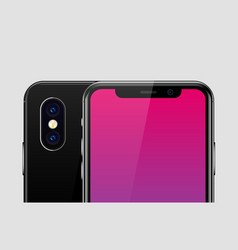 High detailed realistic smartphone vector