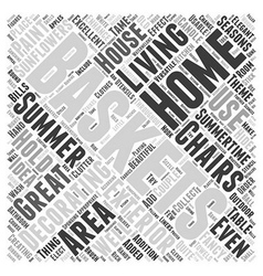 Home decorating for summer word cloud concept vector