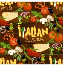 Italian Food Seamless Background vector