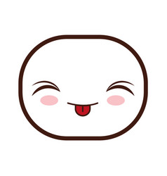 Kawaii cartoon face vector