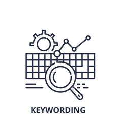 keywording line icon concept keywording vector image