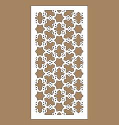 laser cut decorative panel set jali design vector image