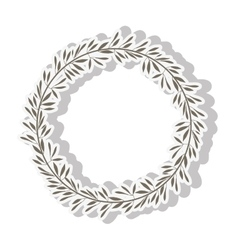 leaves wreath icon vector image