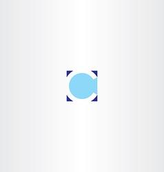 Letter c square blue logotype element vector