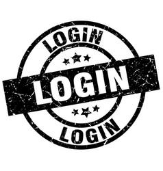 login round grunge black stamp vector image