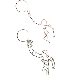 Man Playing with a Ball vector