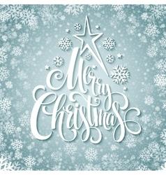 Merry christmas handwritten text on background vector