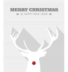 Merry christmas red dot white rudolph reindeer vector