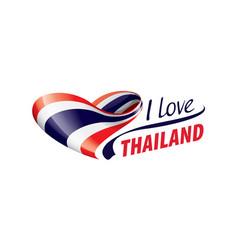 National flag thailand in shape a vector