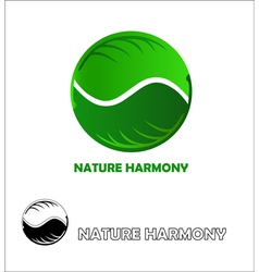 Nature harmony logo design template vector image