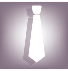 Necktie icon with shadow vector