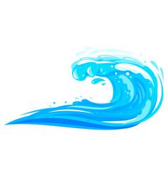 Ocean wave isolated flat vector