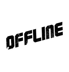 Offline rubber stamp vector