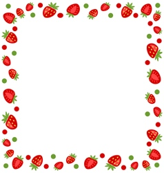 Ornamental Frame Made of Strawberry vector image