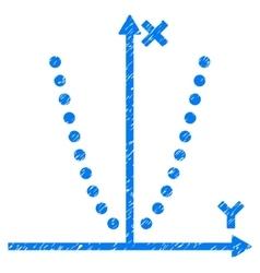 Parabole Plot Grainy Texture Icon vector