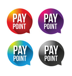 pay point sign label vector image