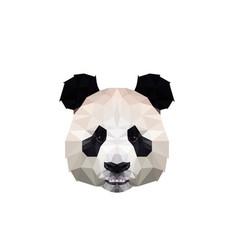 polygonal panda head logo design vector image