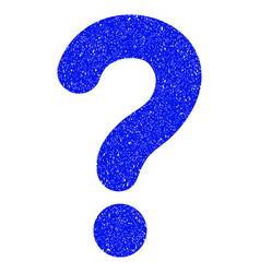 Question grunge icon vector