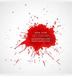 Red splatter ink drop effect vector