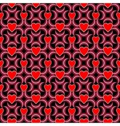 Seamless love heart pattern vector