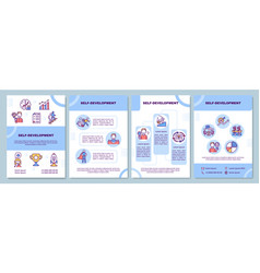 Self-development brochure template vector