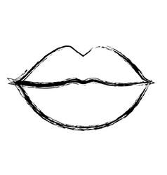 Sensual lips icon vector