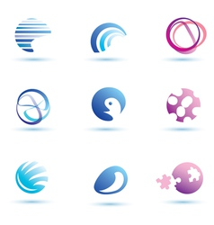 Set of abstract globe icons logo templates vector