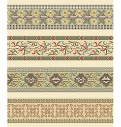 Set of four decorative borders ornamental vector image
