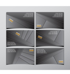 Set of six visit cards vector