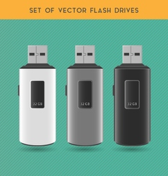 Set Of White Flash Drives vector