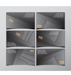 Set six visit cards vector