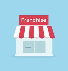 Shop franchise business vector