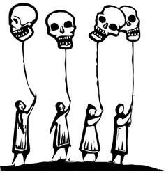 Skull Balloons vector