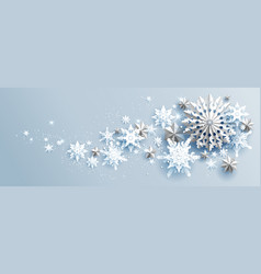 snowflakes stars and snow vector image