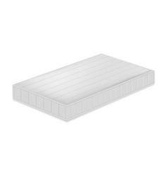 Soft mattress mockup realistic style vector