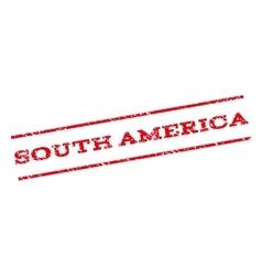 South America Watermark Stamp vector