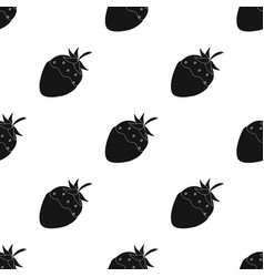strawberry in chocolate icon in black style vector image